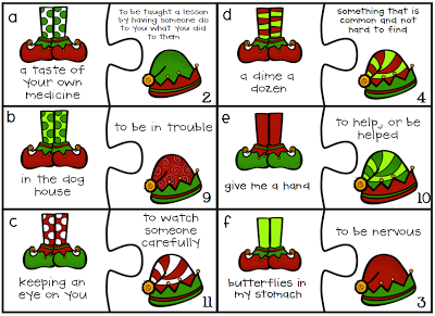elf idioms a puzzle game - Christmas Idioms
