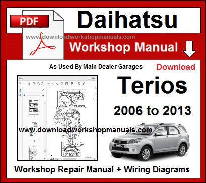 Daihatsu Terios Workshop Repair Manual Repair Manuals Daihatsu Terios Daihatsu