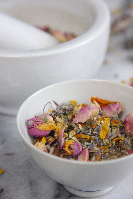 Calming Spring Flower Tea Tea recipes, Healthy herbs