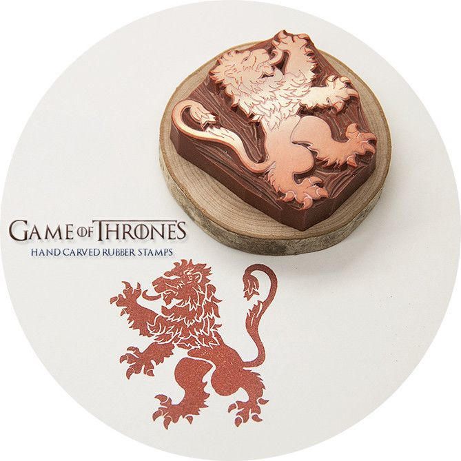 Game of Thrones, House Lannister Sigil Hand Carved Rubber Stamp