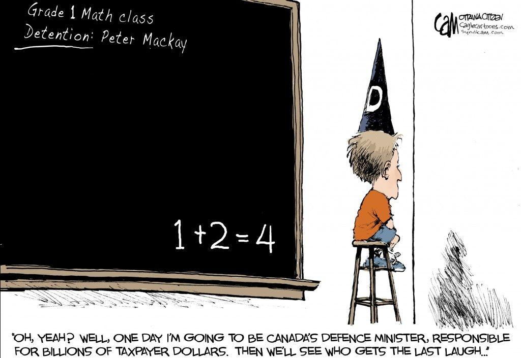 Peter Mackay detention. The last laugh, 1st grade math