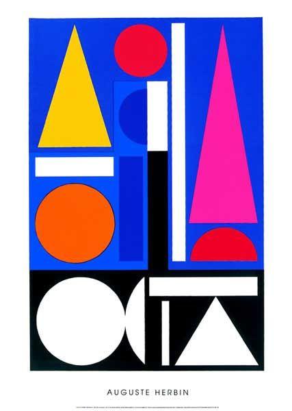 Morning Ii 1952 Art Print By Auguste Herbin At Barewalls Com Art Graphic Design Art Art Prints