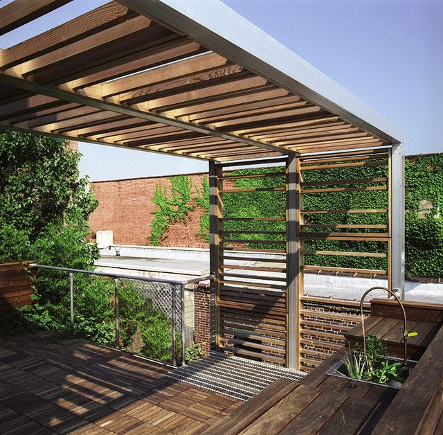Landscape trellis designs urban trellis roof deck modern for Roof deck designs