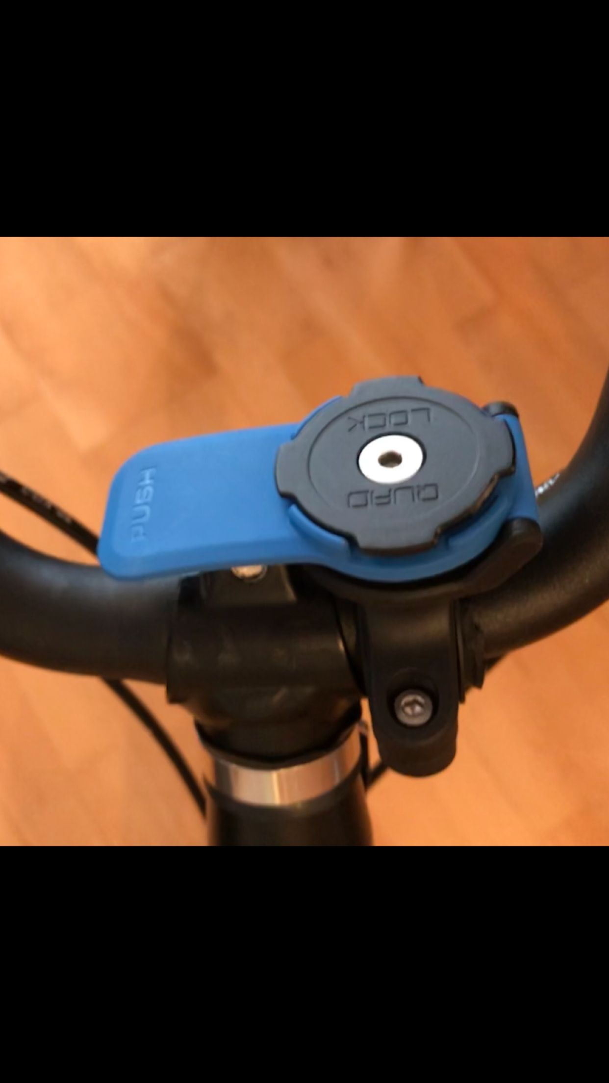 Quad Lock Smartphone Mount For Motorcycles On A Brompton Folding