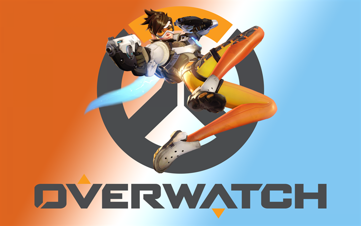 Download Wallpapers Overwatch Logo Art Characters Tracer