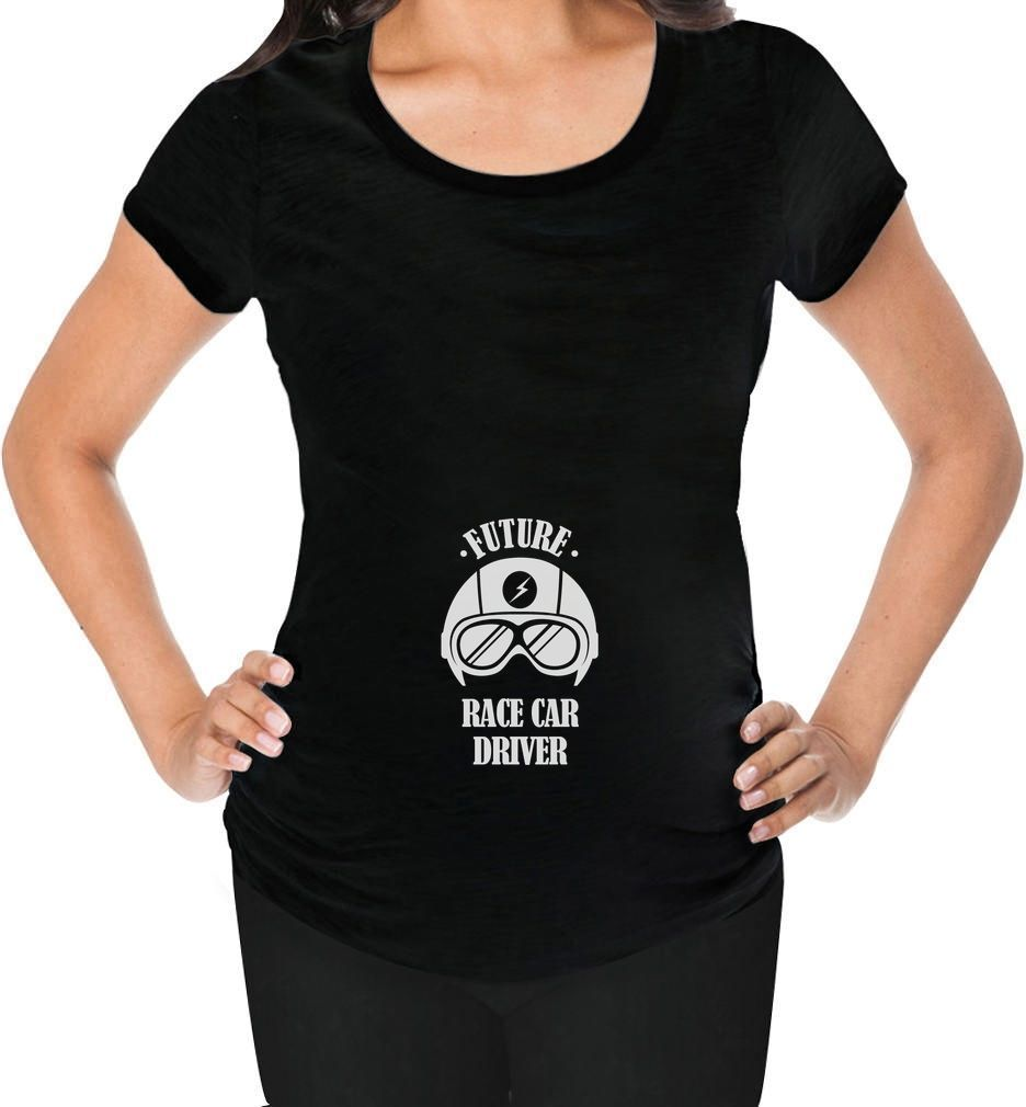 Future Race Car Driver Pregnancy Mom To Be Maternity Shirt Gift