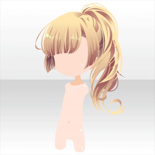 巡夏games アットゲームズ Side Ponytail Hairstyle - Anime hairstyle pinterest