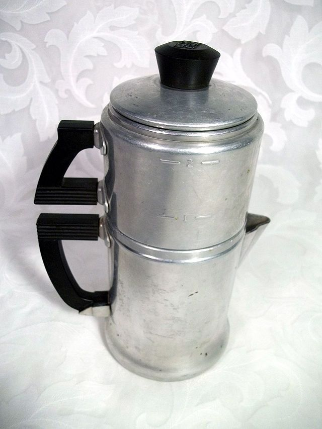 34 99 Vintage Wear Ever 2 Cup Aluminum Stove Top Drip Coffee