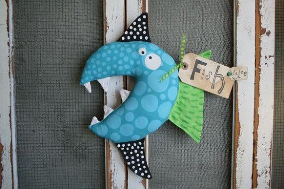 Here Fishy Fishy Sparky By Buttuglee On Etsy Selbstgemachte