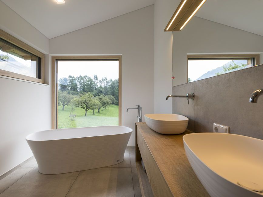 einfamilienhaus r ns modern holzbau moderne architektur flachdach satteldach haus in 2018. Black Bedroom Furniture Sets. Home Design Ideas