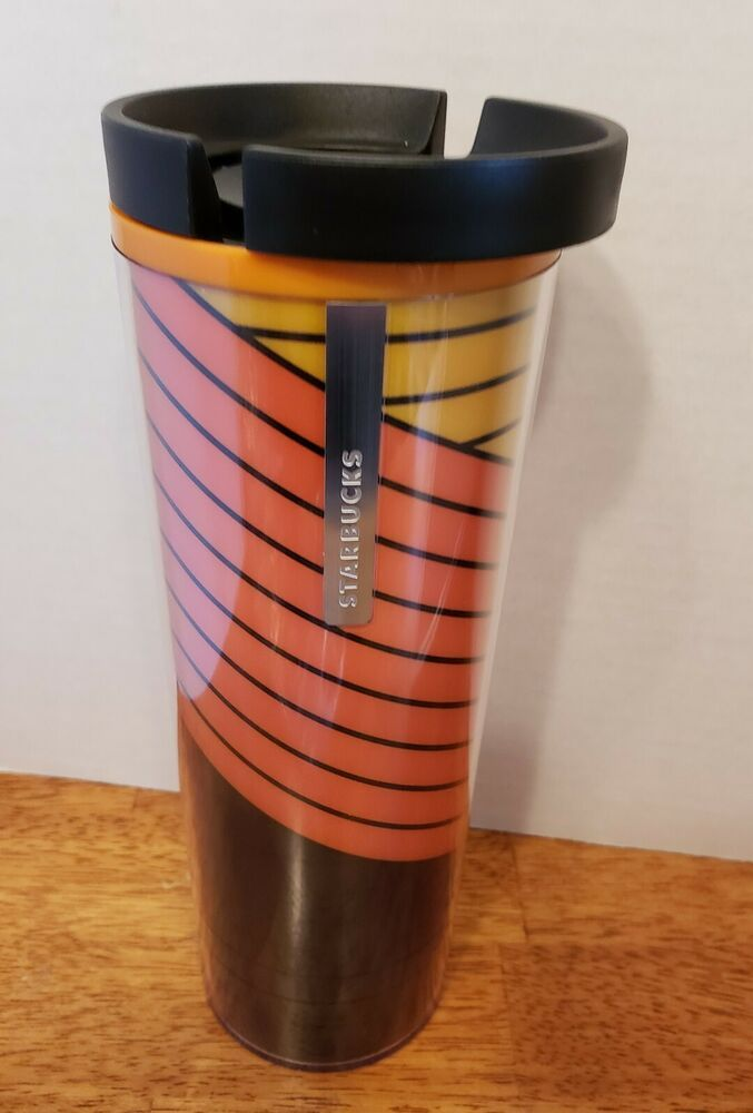 NEW Starbucks 2019 Pink Red Heart Travel Tumbler Mug Coffee Cup 16 oz Plastic