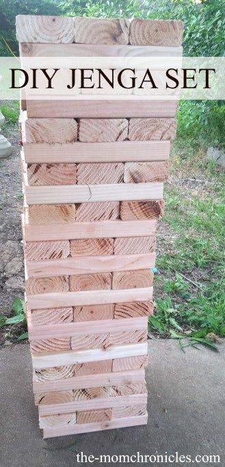 DIY Giant Jenga Set (Part 1   Giant jenga, Jenga, Diy