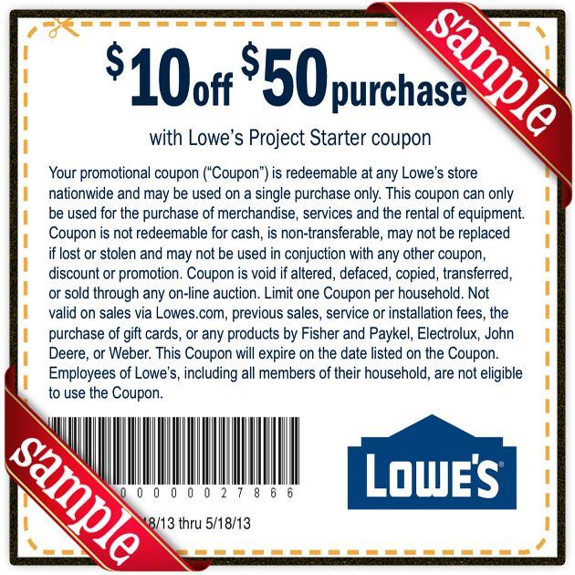 Printable Lowes Coupon 20 Off &10 Off Codes May 2020
