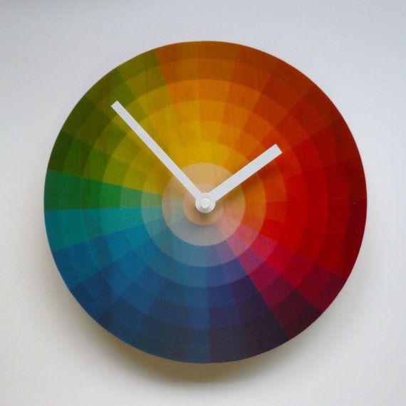 Orologio da parete ruota colore di oggettivare