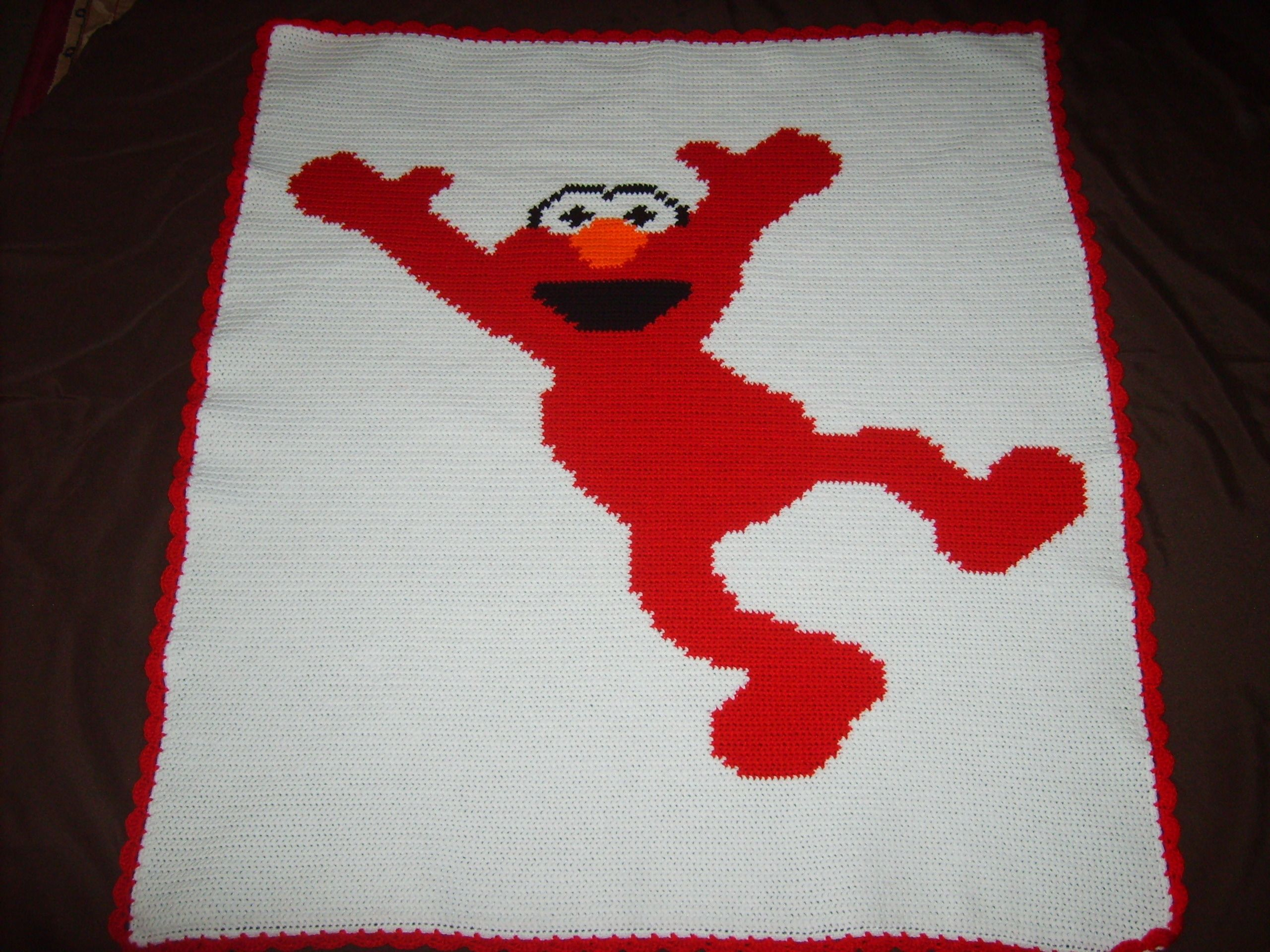 My first graph pattern blanket i made for a fan of elmo my my first graph pattern blanket i made for a fan of elmo bankloansurffo Gallery