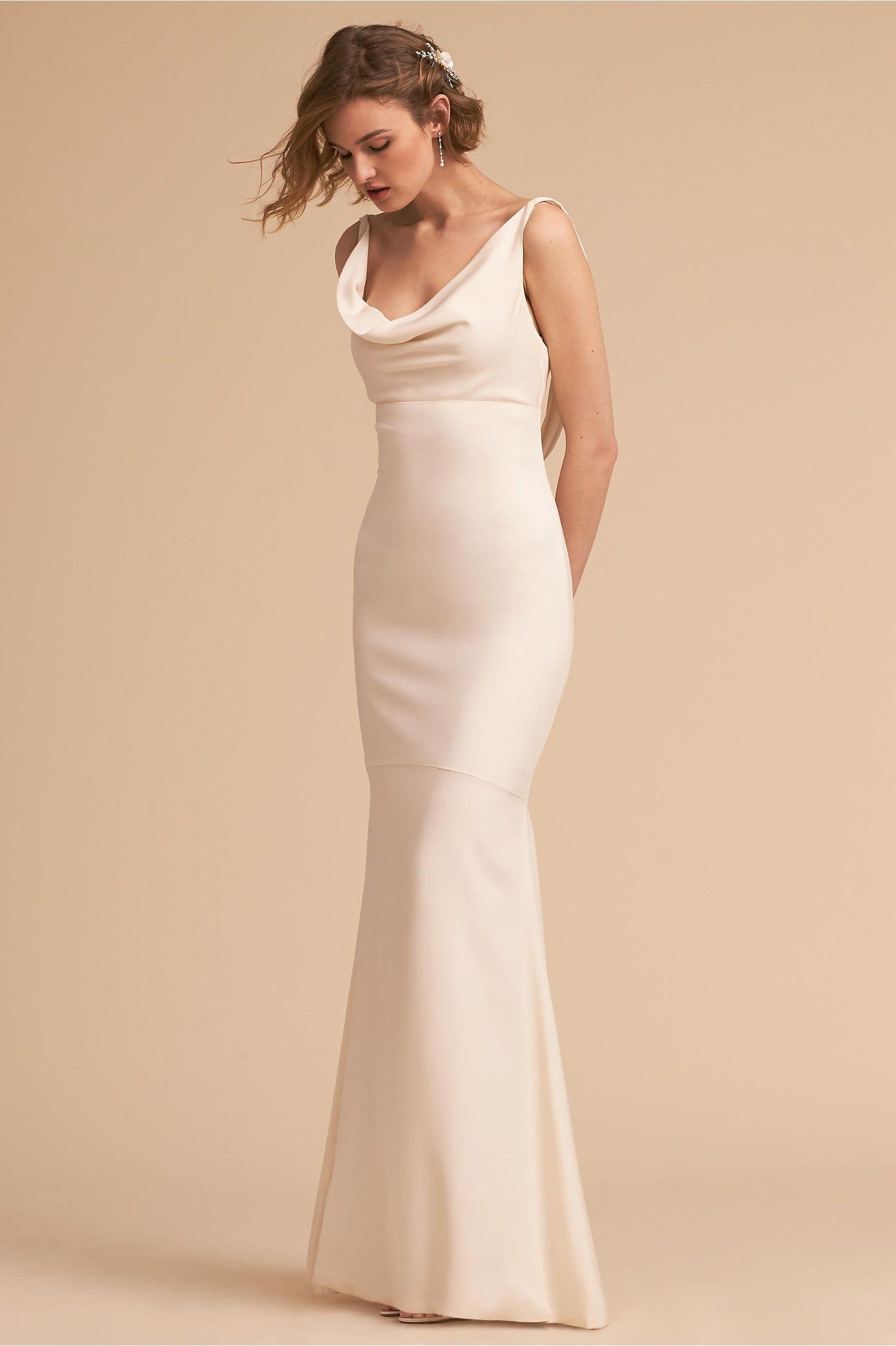 Bhldn S Amy Kuschel Ali Gown In Ivory Column Wedding Dress