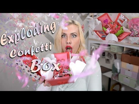 A Confetti Explosion Box A New Twist On The Already Super Fabulous Explosion Box Everyone Is Making And Wan Exploding Gift Box Diy Exploding Box Explosion Box