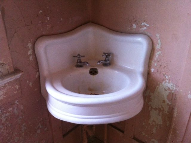 Vintage Crane Single Basin Double Drainboard Porcelain Over Cast Iron Sink  And Vintage Bathroom Sink And Clawfoot Bathtub