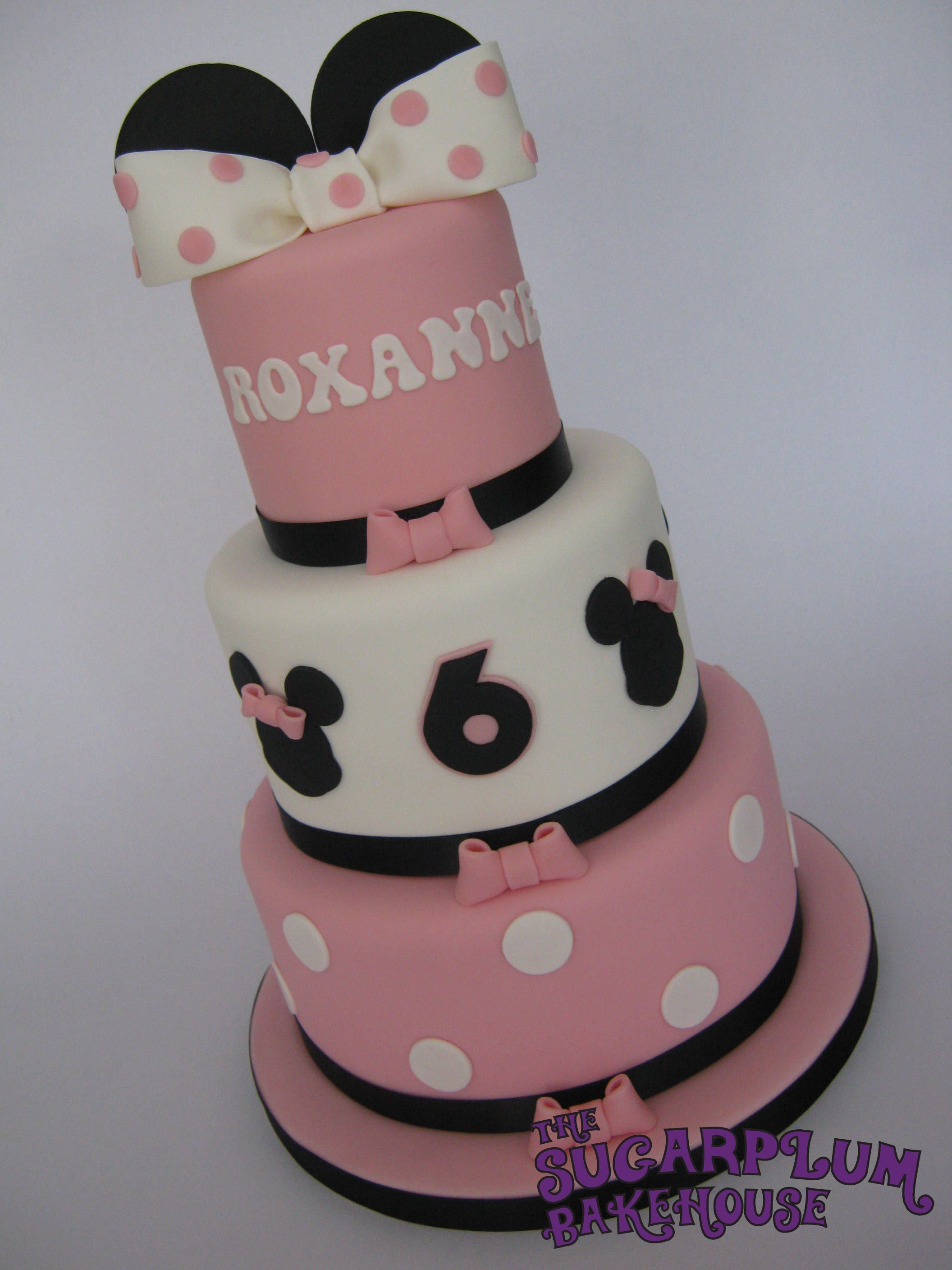 Mini 3 Tier Minnie Mouse Birthday Cake Mini 3 Tier Minnie Mouse