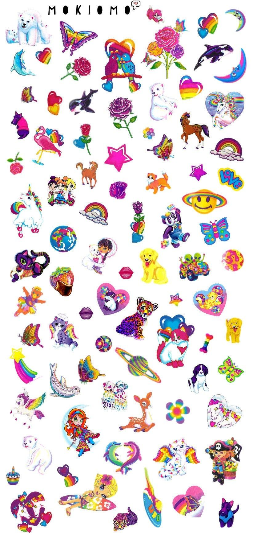 Lisa Frank Nail Decals Nail Art Nail Decals Waterslide Decals Nail Design Nail Decal Wraps By Mokiomo On Lisa Frank Stickers Sticker Art Print Stickers