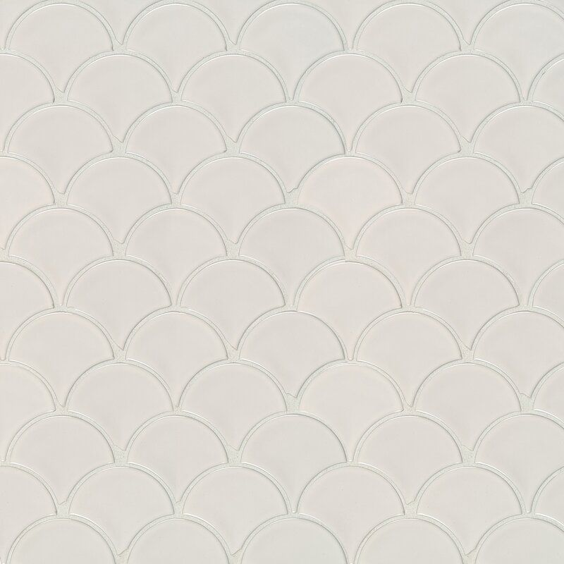 Domino Random Sized Porcelain Fish Scale Mosaic Wall Floor Tile In 2020 Fish Scale Tile Bathroom Porcelain Mosaic Tile Porcelain Mosaic