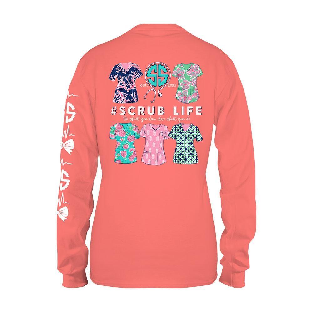 169dac779d564a Simply Southern Scrub Life Long Sleeve T-shirt SUNGLOW | Nurses ...