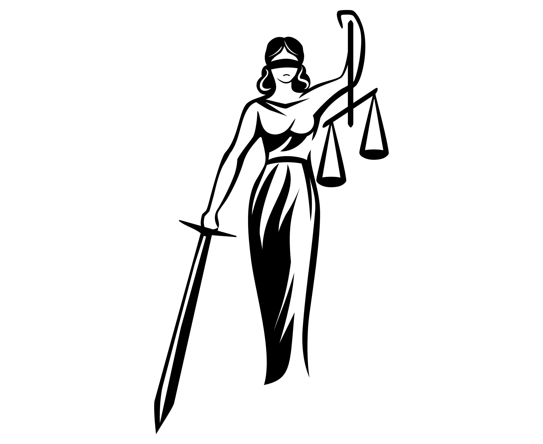 Lady justice femida scale of justice themis silhouette