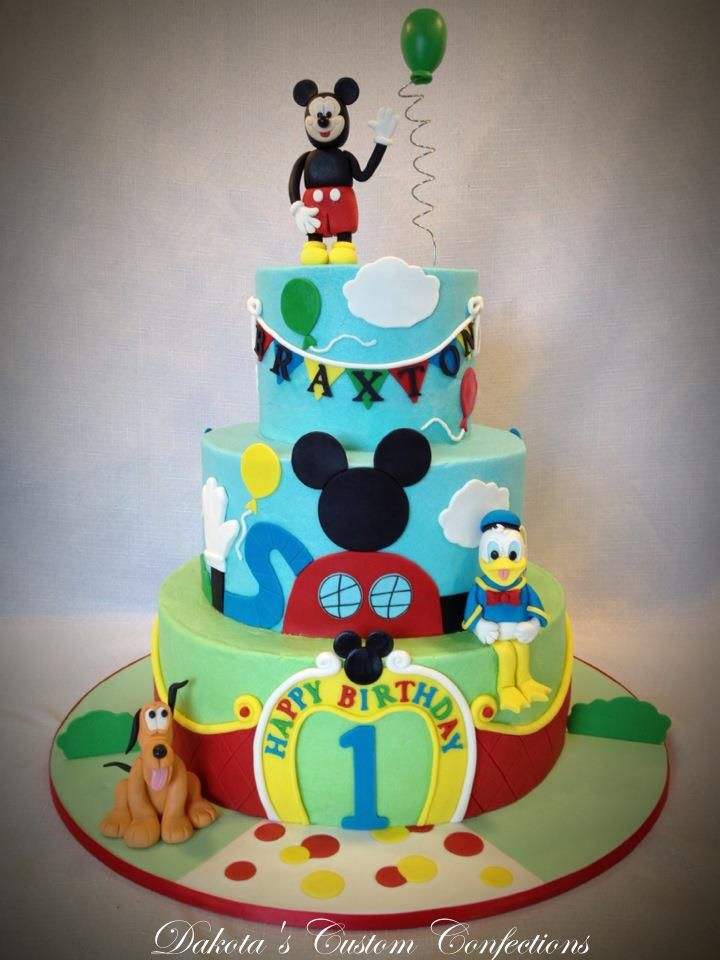 Mickey Mouse First Birthday Cake Smiles Cake Mickey Mouse