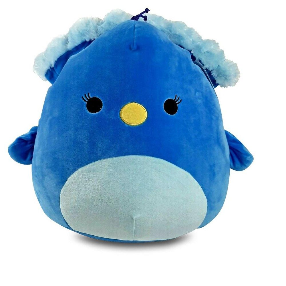 Kellytoy Squishmallow 16 Inch Plush Priscilla The Blue Peacock Plush Pillow Pals Cute Plush