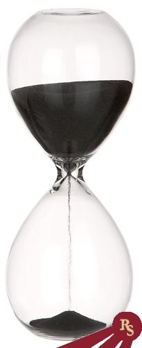 gold frame black sand hourglass 10 minute sand timer with metal