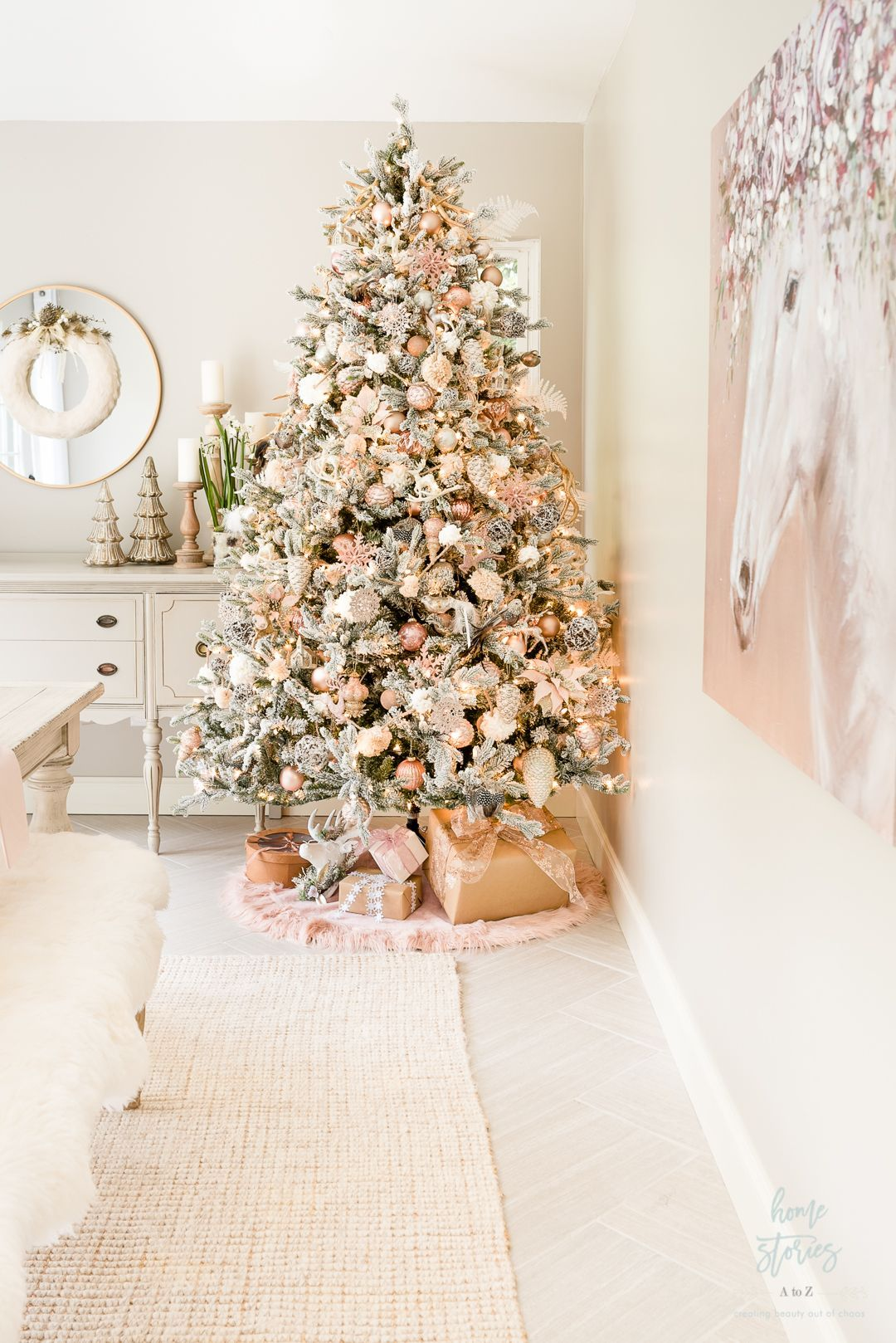 How To Decorate A Christmas Tree Like A Designer Step By Step Video In 2020 Christmas Tree Inspiration Rose Gold Christmas Tree Gold Christmas Decorations