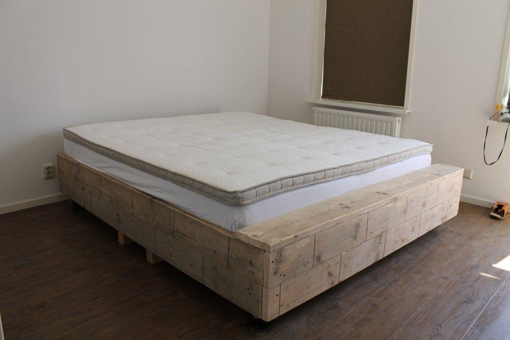 afbeeldingsresultaat voor steigerhout bed maken slaapkamer