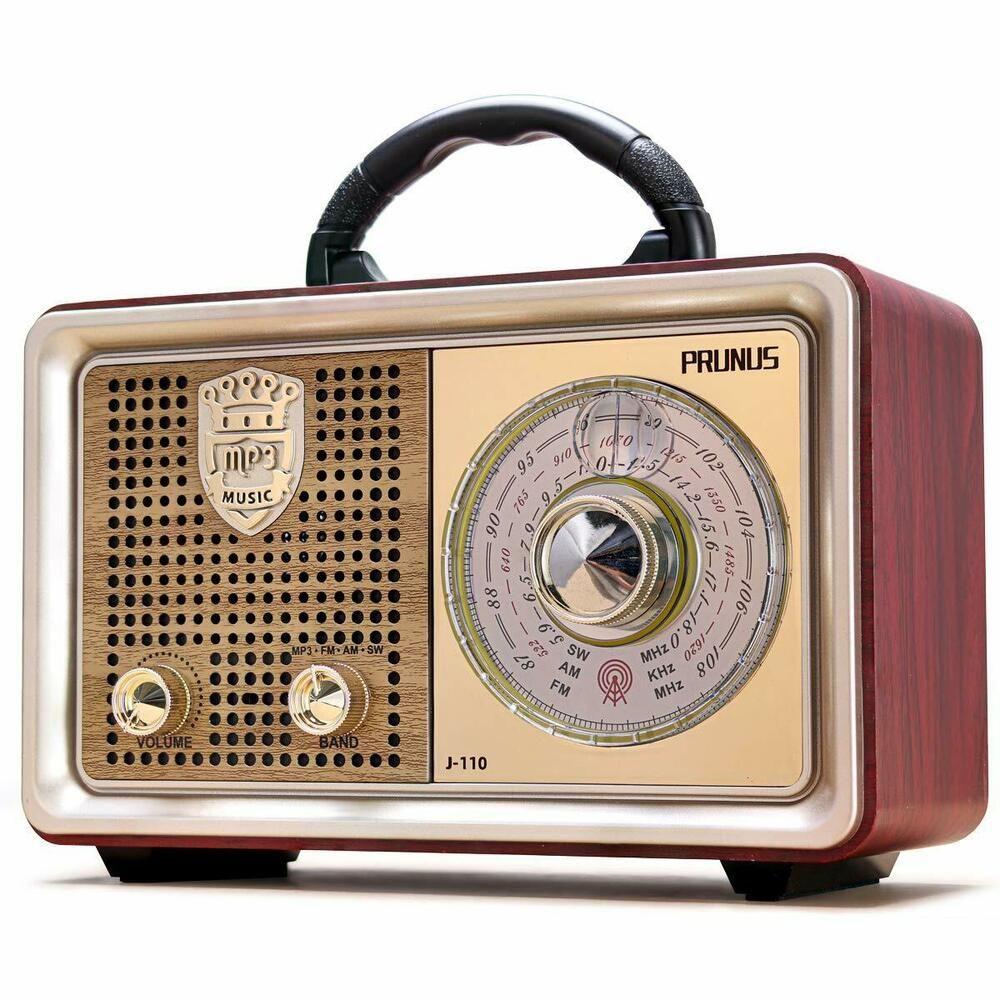 Wooden Am Fm Radio Bluetooth Retro Speaker Portable Transistor Christmas Gifts Portable Radio Retro Speakers Vintage Radio