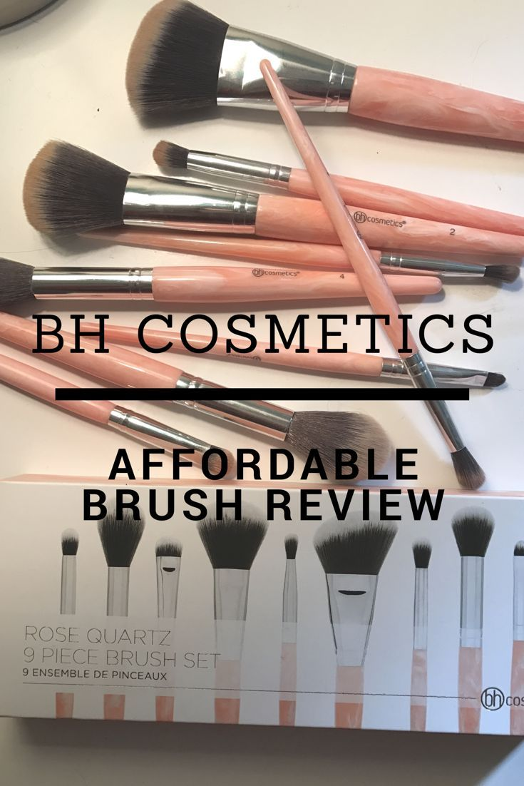 Bh Cosmetics Rose Quartz 9 Brush Set Review Bh cosmetics