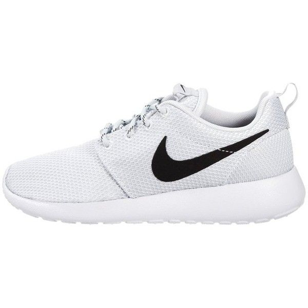 408d898071ee Nike Sportswear ROSHE ONE Trainers pure platinum black white ( 99) ❤ liked  on Polyvore featuring shoes