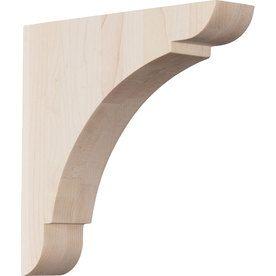 Ekena Millwork 1 75 In X 8 In Red Oak Olympic Wood Corbel