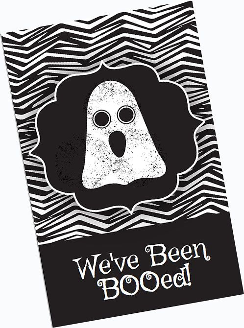 Here you go, a free printable how to boo! We love to boo! Each year - free halloween decorations printable