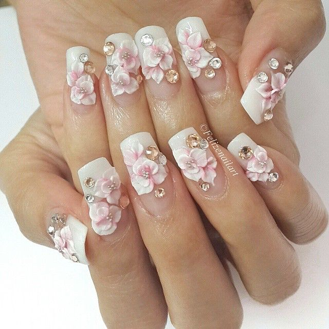 Pin By Suzzanne Few On Floral Nail Art Pinterest