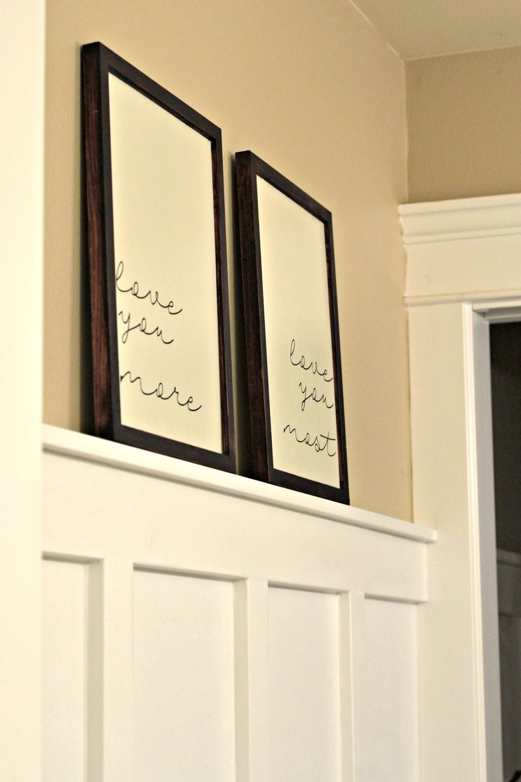 Easy Framed Sign Tutorial | Tutorials, Diy frame and Paint stain