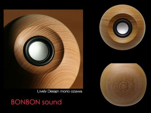 Spherical Speaker Enclosure Bon Bon Sound Round Wooden Speaker From Japan  Speaker Project .