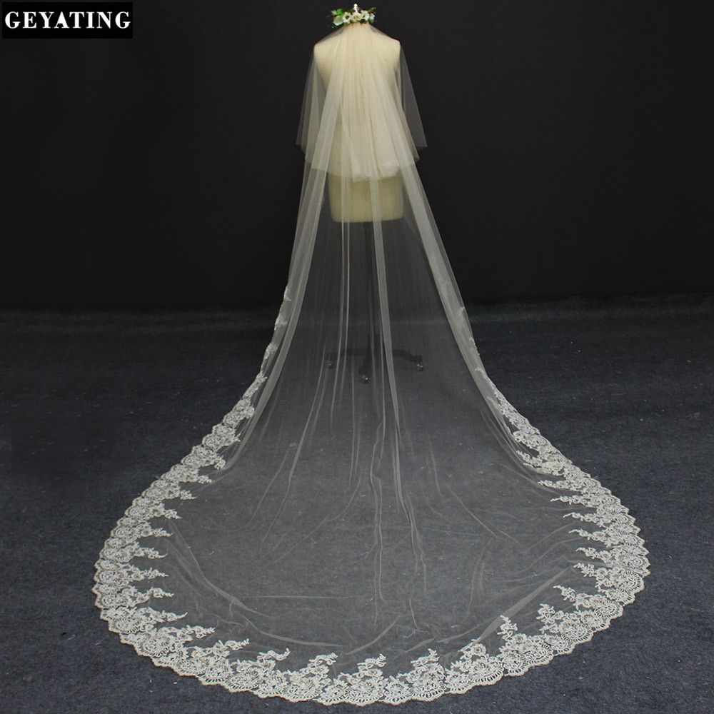 Photo of 2017 Real Photos 2 Layers 3 Meters Champagne Color Lace at B…