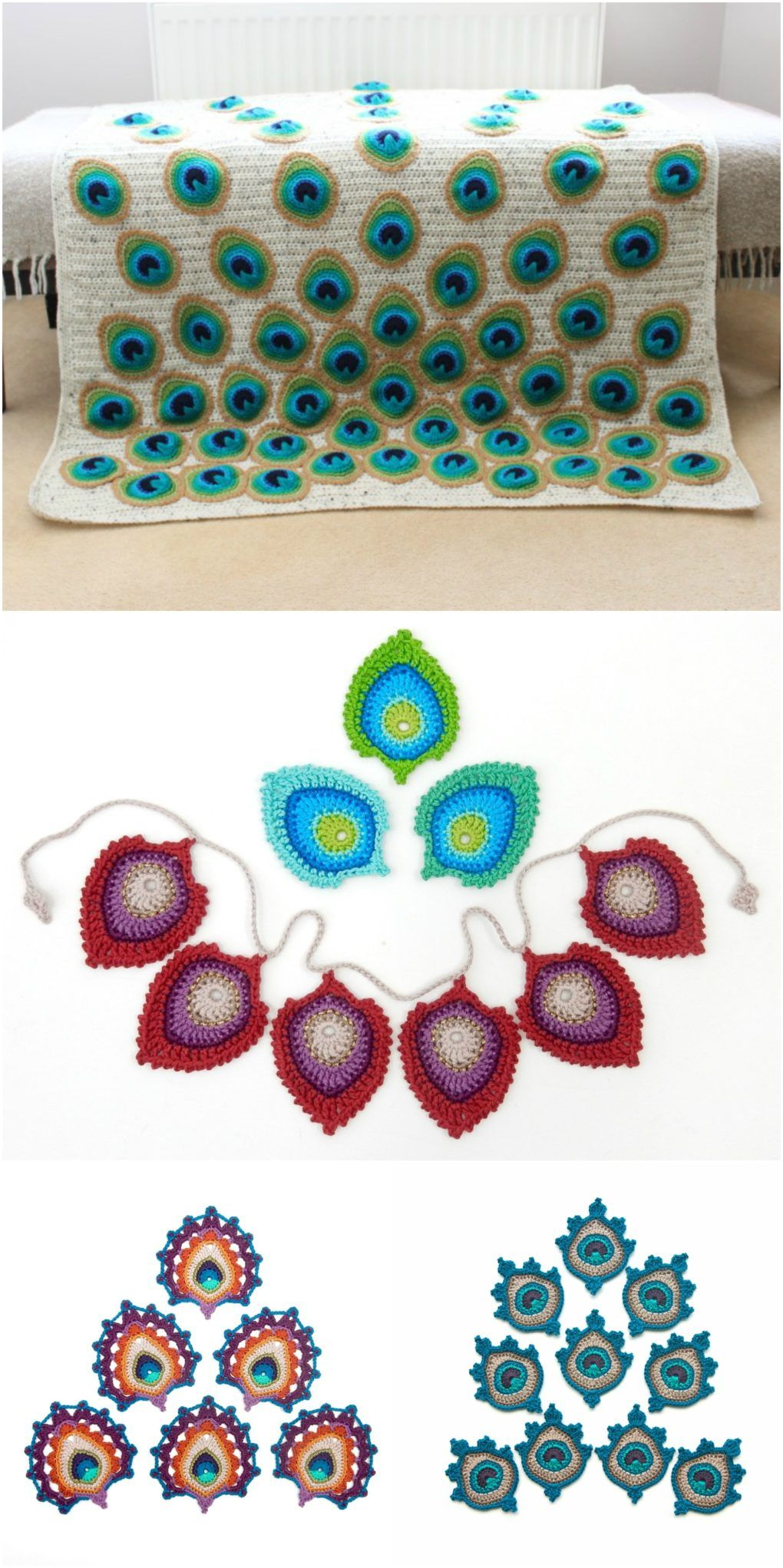 Crochet Peacock Feather – Free Pattern – CRAFT-ADDICTS | peacock ...