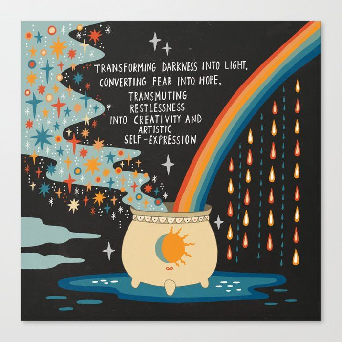 Transforming Darkness Into Light Canvas Print by Asja Boros - Medium