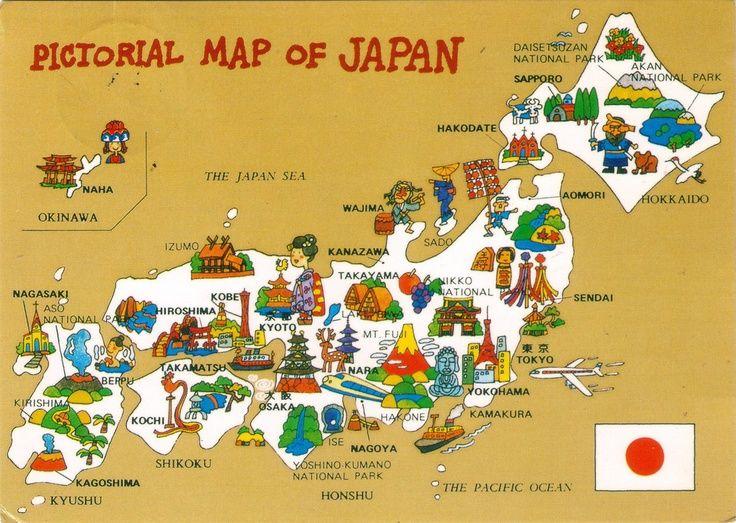 Landscape Map Of Japan For Kids Google Search Illustrations - Japan map cartoon