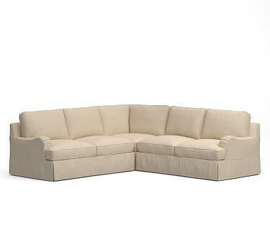 Pb Comfort English Arm 3 Piece L Shaped Corner Sectional