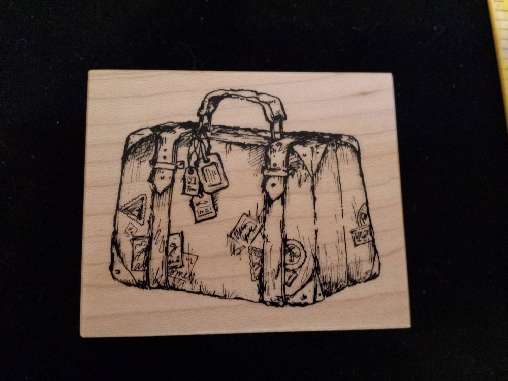 PSX F3151 SUITCASE Rubber Stamp LUGGAGE Travel Bag Case