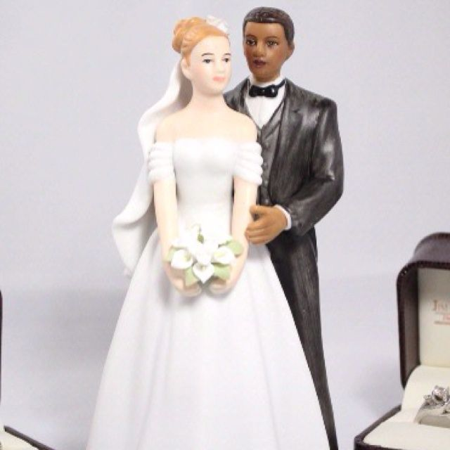 Biracial Wedding Cake Toppers | Wedding | Pinterest | Wedding cake ...