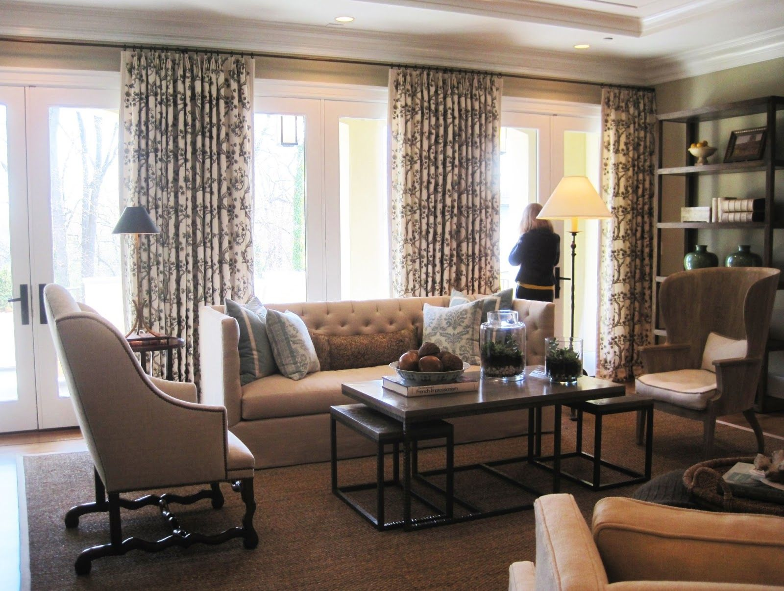 family room drapery ideas living curtain sets us house and ...
