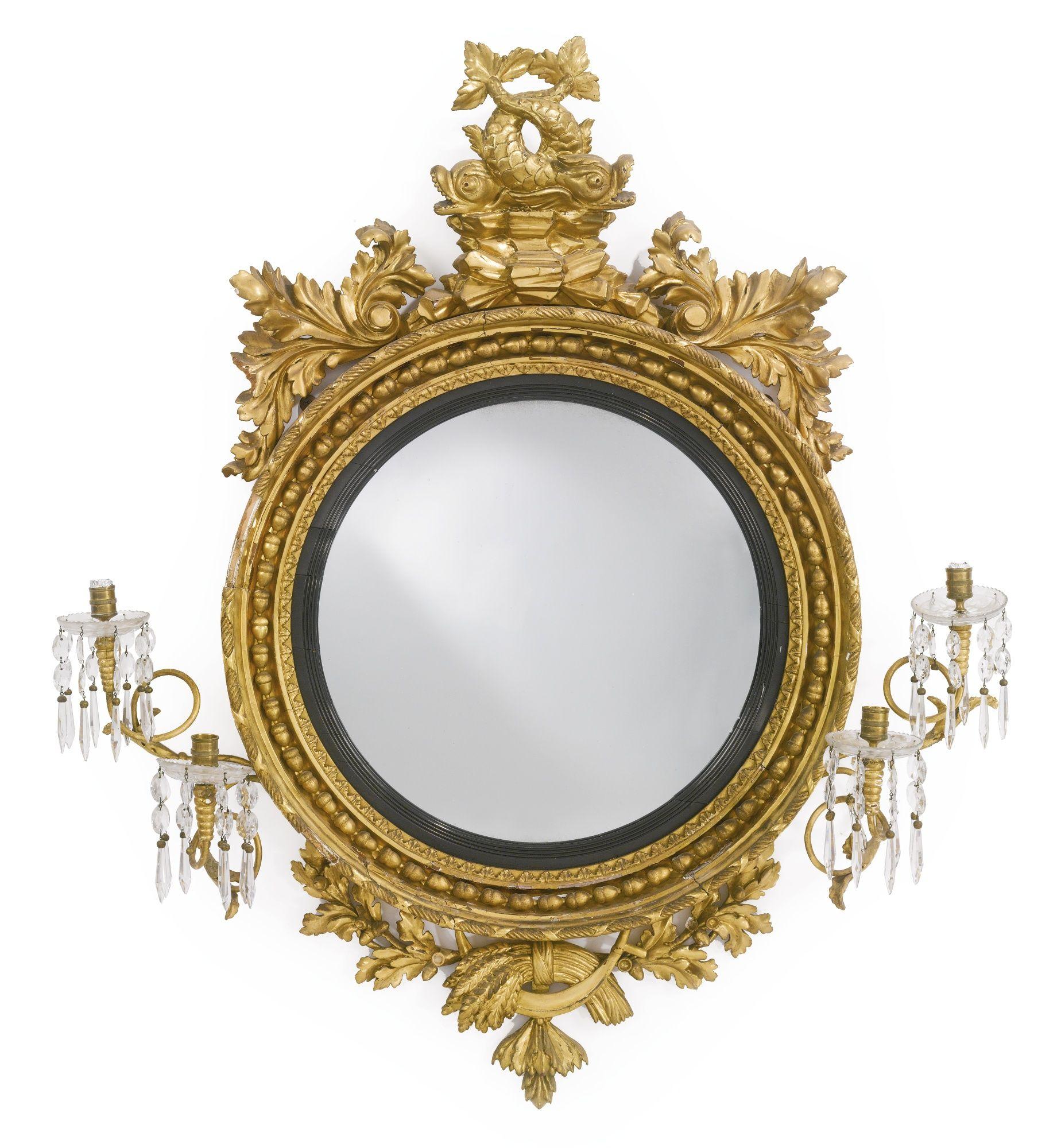 A Regency giltwood convex girandole mirror circa 1815 | Sotheby\'s ...