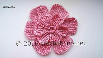 мастер класс цветка из журнала Alize вязание крючком блог настика